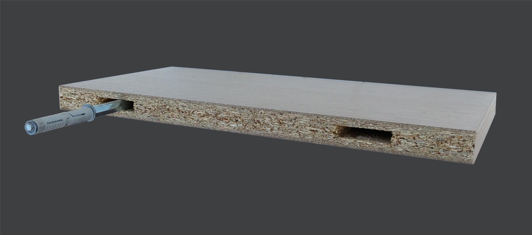 Mensole Laminato Bianco.Mensola A Muro In Legno Laminato Spessore 25mm