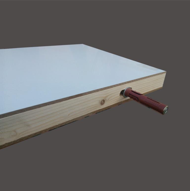 Reggimensola A Scomparsa Per Legno.Mensola A Muro In Legno Laminato Spessore 40 50mm